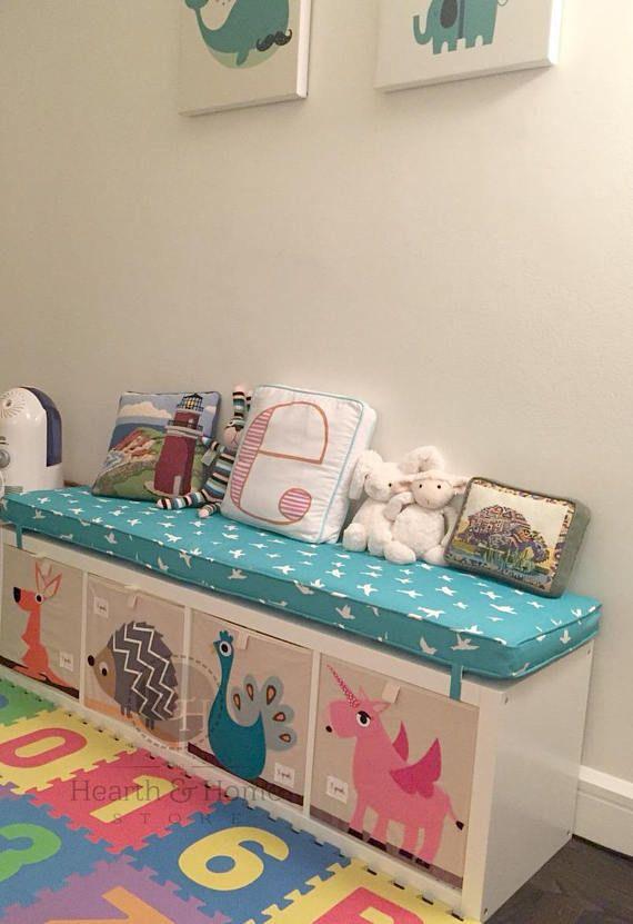 Ikea  KALLAX Custom Cushion Playroom  Nursery Organization