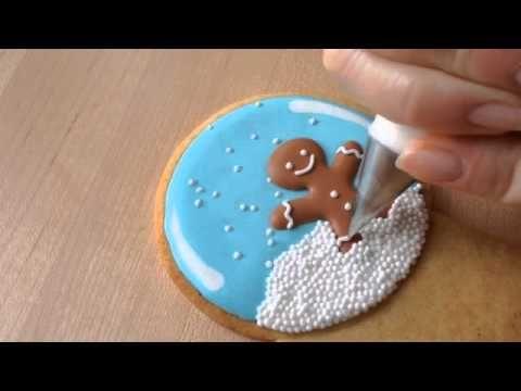 Snow globe cookies Video : como hacer esta preciosa galleta tan típica de navidad, paso a paso, de la mano de Amber de Sweetamber