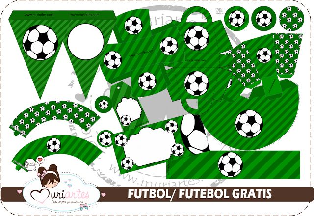 Soccer Free Printable Kit. - Is it for PARTIES? Is it FREE? Is it CUTE? Has QUALITY? It´s HERE! Oh My Fiesta!