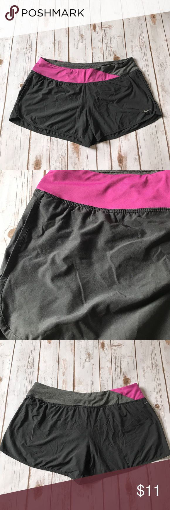 Nike Women Workout Shorts Size XL Grey/Pink Very comfortable shorts from Nike. Good condition. Nike Shorts