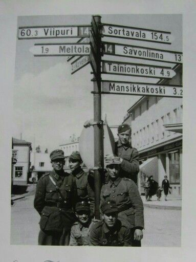 Soldiers at the center of Imatra.