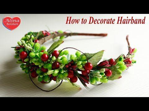 Ободок своими руками. Летний ободок для волос / DIY. How to decorate a hairband - YouTube
