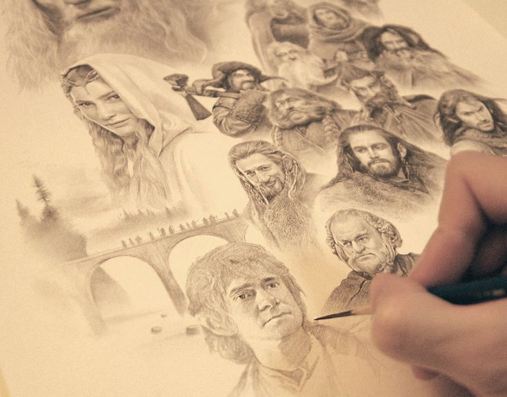 THE HOBBIT by yinyuming.deviantart.com on @deviantART  This I amazing! They're a very talented artist.