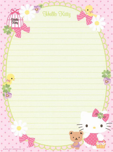 Sanrio Hello Kitty Volume Letter Set by Crazy Sugarbunny, via Flickr