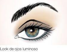 Look de ojos luminoso