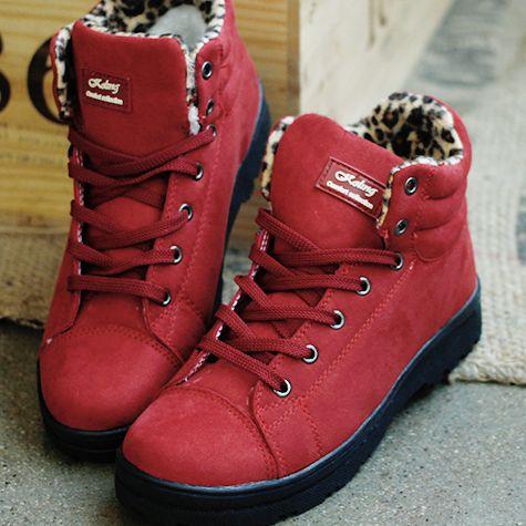 Fur Sneakers for Winter