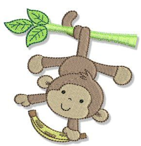 Embroidery | Free Machine Embroidery Designs | Bunnycup Embroidery | Monkeying Around