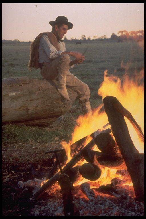 gaucho argentino al fogon