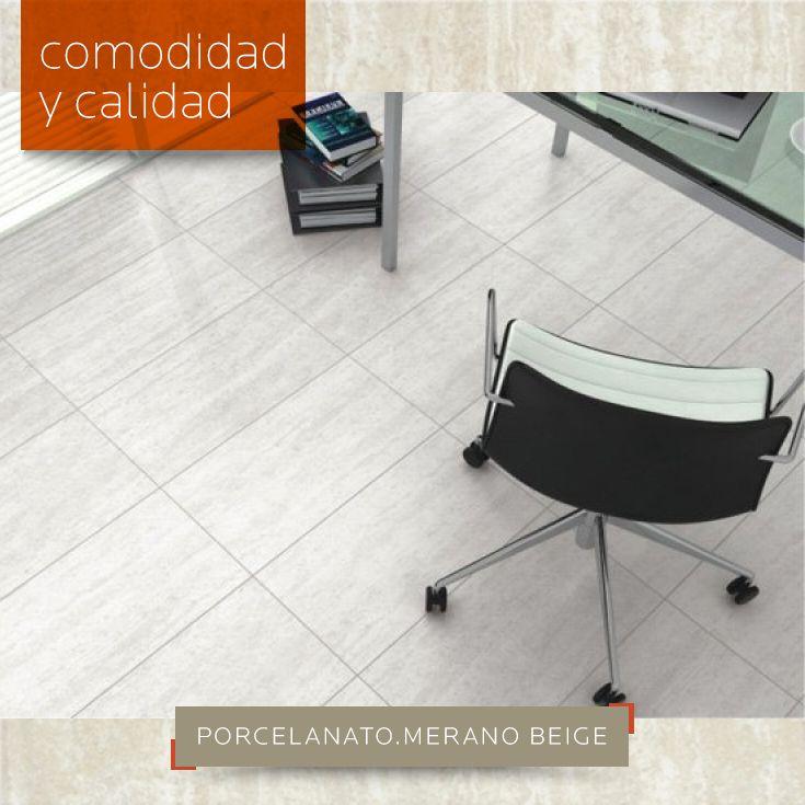 COMODIDAD Y CALIDAD   Porcelanato esmaltado con acabado marmolizado Merano Beige de #Incepa 61x61. De venta aquí: DECERAMICA.COM #porcelanato #mármol #interior