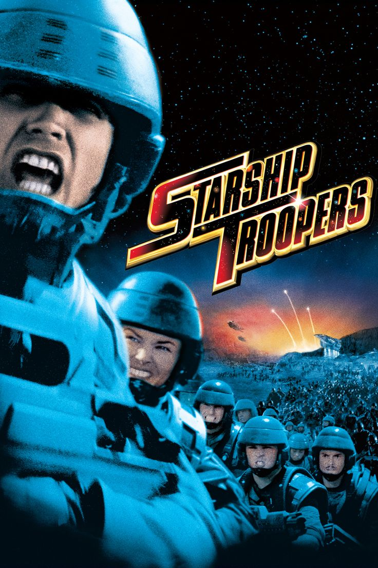 Starship Troopers Movie Poster - Casper Van Dien, Dina Meyer, Denise Richards  #StarshipTroopers, #CasperVanDien, #DinaMeyer, #DeniseRichards, #PaulVerhoeven, #Sci, #FiFantasy, #Art, #Film, #Movie, #Poster