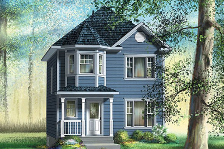 Victorian Style House Plan - 3 Beds 1.50 Baths 1268 Sq/Ft Plan #25-4048 Exterior - Front Elevation - Houseplans.com