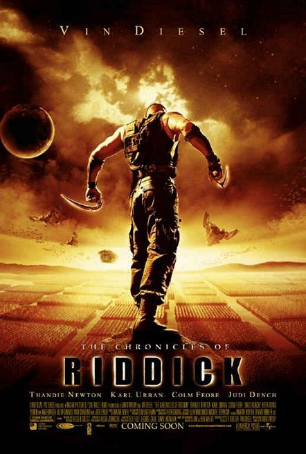 The Chronicles of Riddick (2004) 5 years after Pitch Black, the wanted criminal Riddick arrives on a planet called Helion Prime, and finds himself up against an invading empire called the Necromongers, an army that plans to convert or kill all humans in the universe.