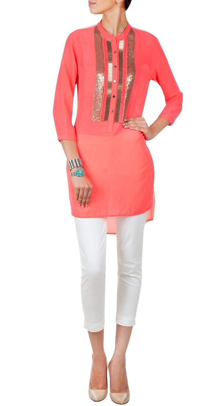 Pink Color Designer #Kurti