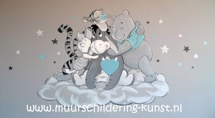Muurschildering Winnie the Pooh