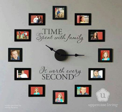 I so want to do this one!!!! Family Photo Wall Clock