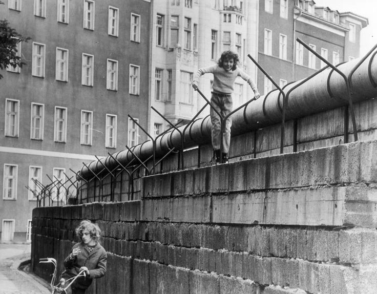 Children playing on the Berlin Wall, 1970s