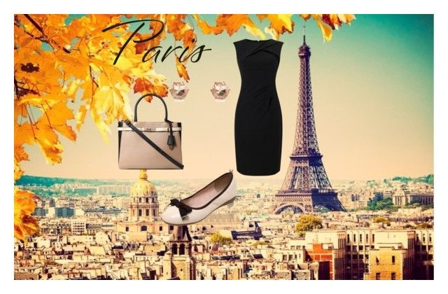 """Little black dress for fall in Paris"" by borbalastyle on Polyvore featuring Adrianna Papell and Dorothy Perkins"