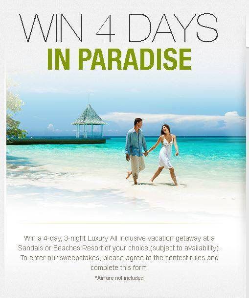 012bb3f1c66145 Win a FREE Sandals Honeymoon
