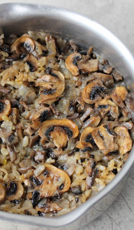 Simple 3 ingredient rice dish made with brown rice and mushrooms. For a flavorful and healthy side dish that will compliment any meal