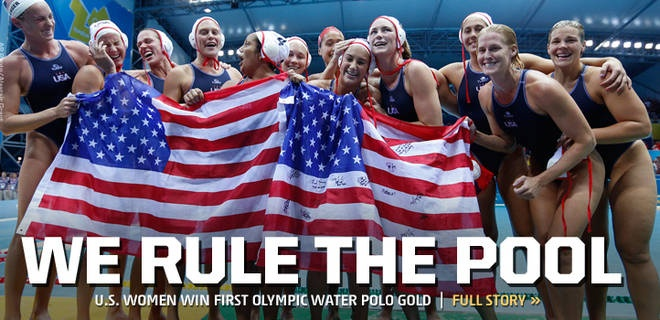 USA Women's Water Polo Team  Wins the GOLD!