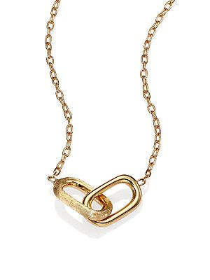 Marco Bicego Delicati 18K Yellow Gold Link Pendant Necklace @Saks Fifth Avenue