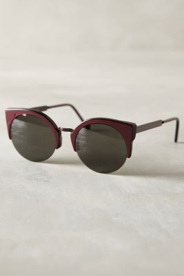 Super Lucia Francis Sunglasses Plum One Size Eyewear #anthroregistry