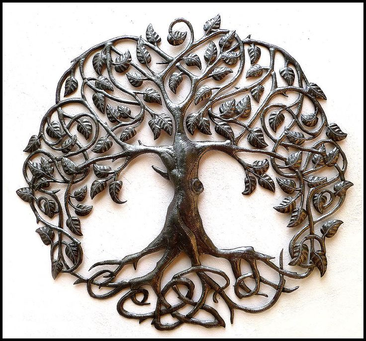 Metal Tree Wall Hanging Metal Art Recycled Steel Drum Art Of Haiti Metal Wall Art Outdoor Garden Decor Haitian Steel Drum Metal Art