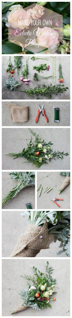 How to Arrange Your Own Eclectic Bouquet - Rustic Wedding Chic