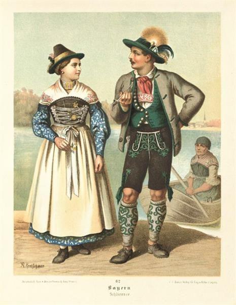 Немецкий национальный костюм одежда