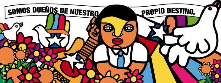 Llego un Septiembre que completan 40años de una parte de la historia chilena que no podemos olvidar, para nunca volver a repetirla. ilustracion hecha con las tipografia creada por el diseñador chileno Rodrigo Araya Salas, que recuerda el estilo gráfico de la Brigada Ramona Parra.