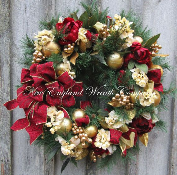 Tons Of Christmas Decorating: Christmas Wreath, Holiday Wreath, Williamsburg, Colonial