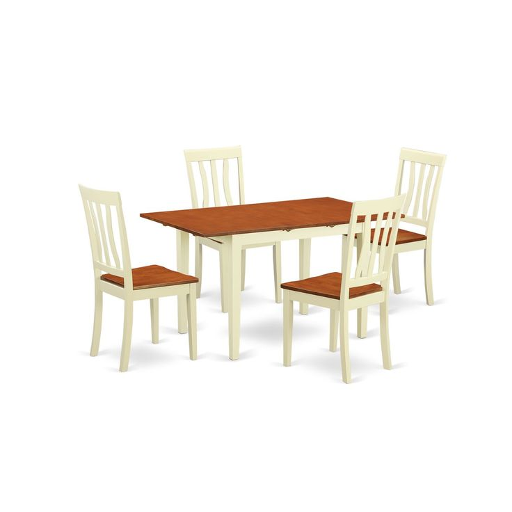 5piece kitchen dinette set with dinette table and 4 dining chairs