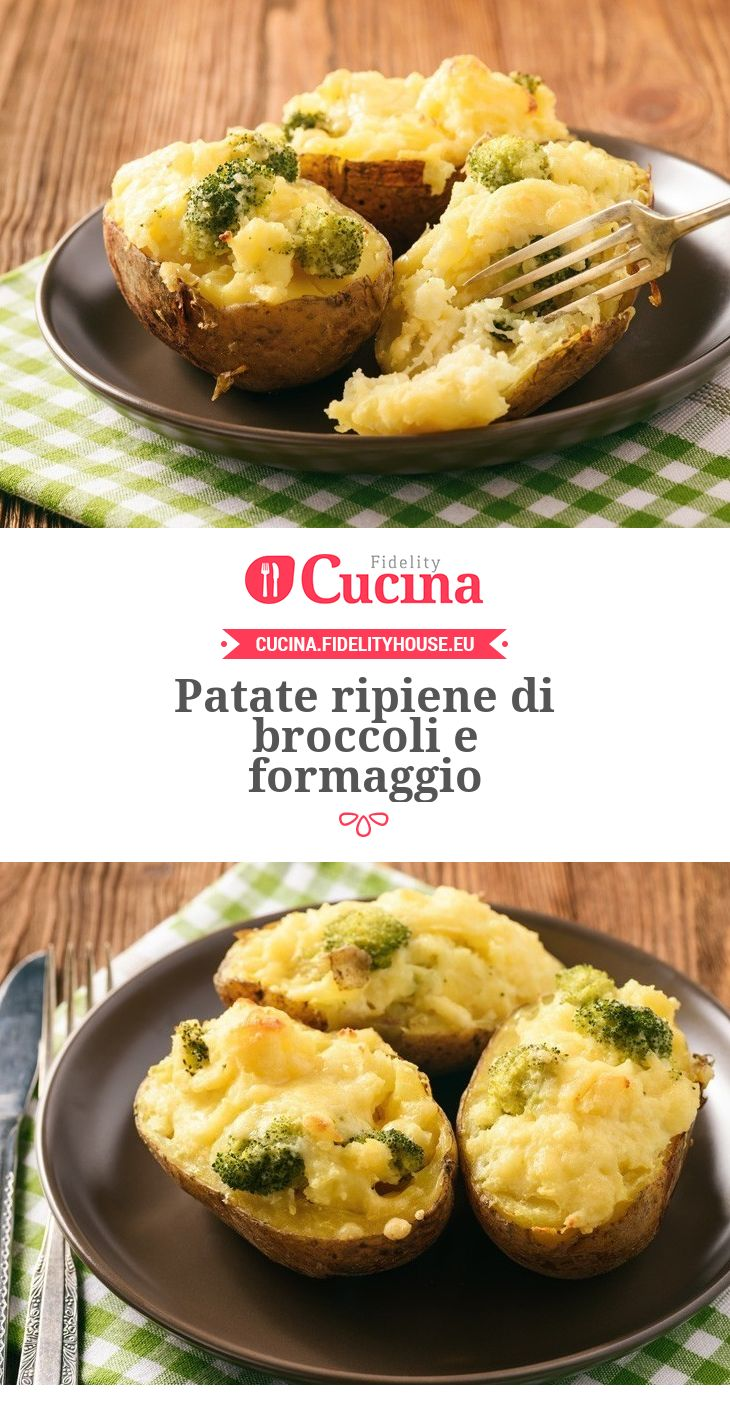 Patate ripiene di broccoli e formaggio