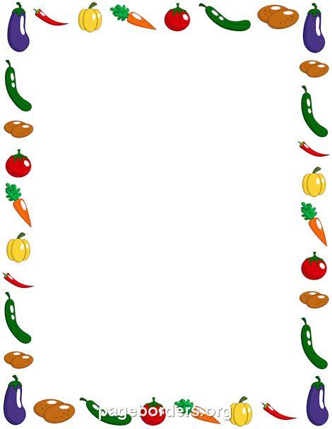 Vegetable Border DYPLOMY RAMKI ZNACZKI EMBLEMATY