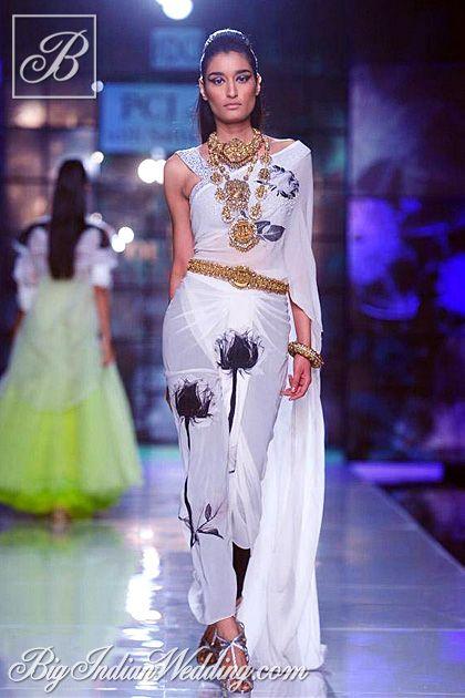 Satya Paul designer stitched saree