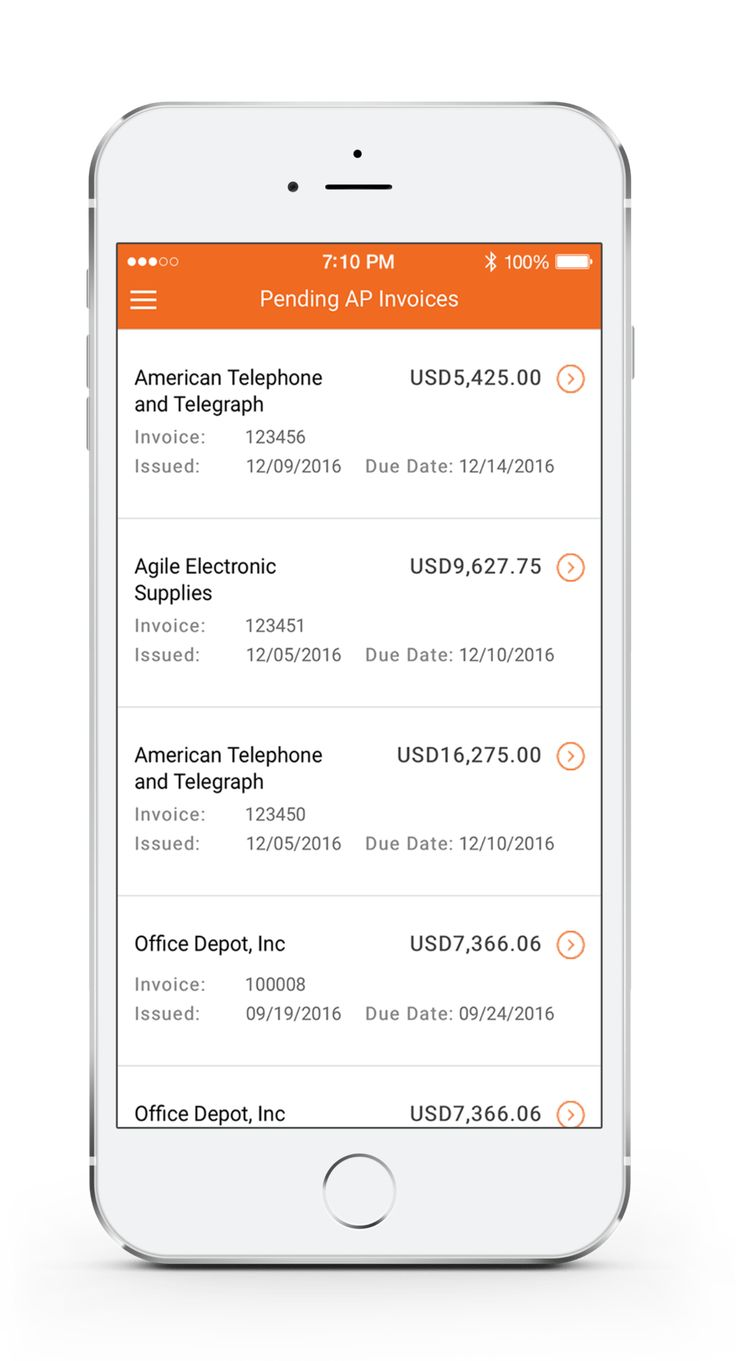 Oracle Mobile Invoice Approvals (With images) Invoicing