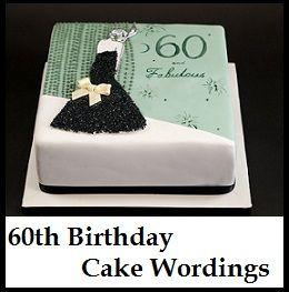 Birthday Cake Wordings Ideas What To Write On 60th