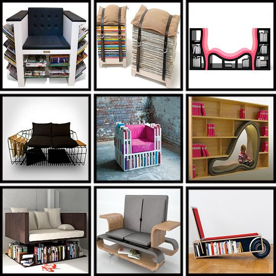 Great book storage ideas. Perfect for small spaces and gentlewomen and  gentlemen of leisure. - 163 Best Book Storage Images On Pinterest