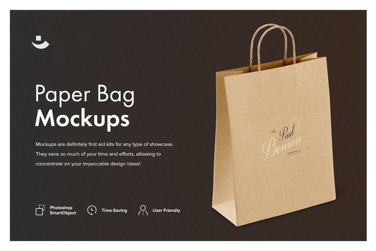 Paper Bag Mockup Set Product Mockups Creative Market Bag Mockup Packaging Mockup How To Calm Nerves