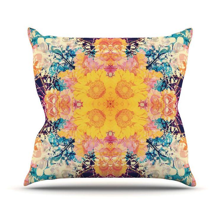 """Danii Pollehn """"Unvenannt"""" Purple Orange Throw Pillow - Outlet Item"""
