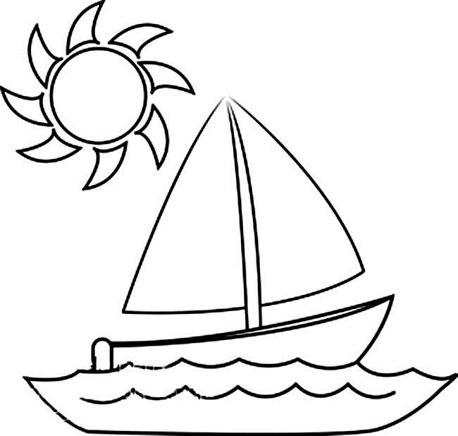 boats with the sun