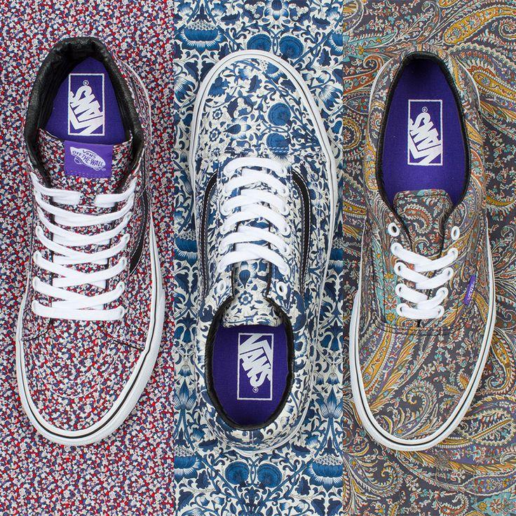 Die dritte Capsule Kollektion vonVans und dem Londoner LabelLiberty Art Fabrics kombiniert den klassischen Style der berühmten Skateschuhe mit irren Prints. Paisley, Lodden und Pepper Print passe...