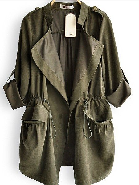 army green parka - Google Search