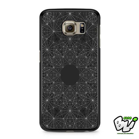 Black Dark Geometric Abstract Samsung Galaxy S6 Case