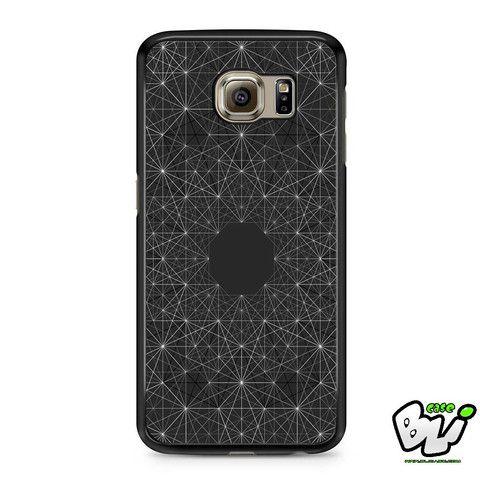 Black Dark Geometric Abstract Samsung Galaxy S6 Case