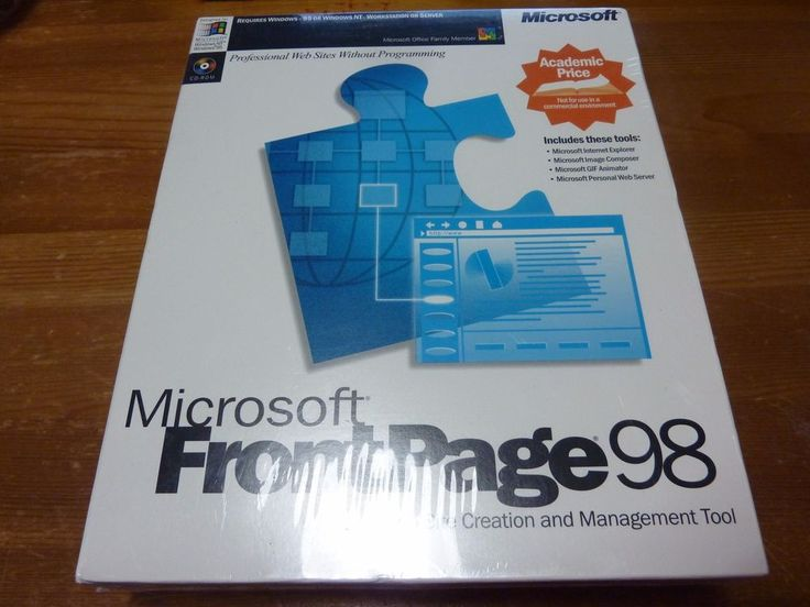 Microsoft FRONTPAGE 98 Full Version Web Site Creation - BRAND NEW SEALED  #Microsoft