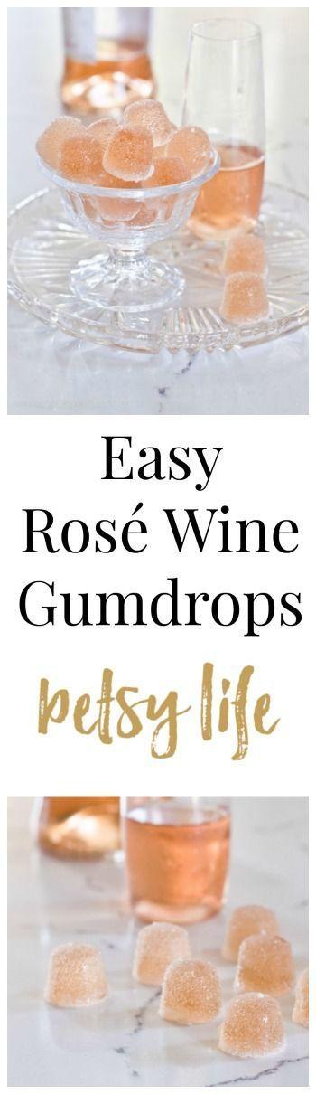 Happy Holidays! Nothing says festive Christmas recipe like these Easy Rosé Wine Gumdrops. Wow your friends at your next holiday party. http://betsylife.com/recipe/rose-wine-gumdrops/