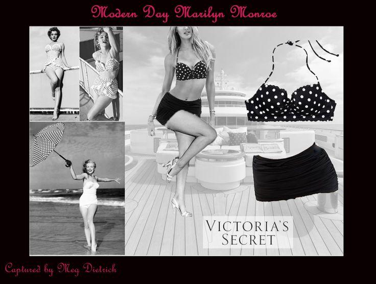 @Victoria Brown's Secret #fashion #swimsuit #victoriassecret #summer #beach #vintage #style #marilyn #monroe #marilynmonroe #b&w #swim #bathingsuit #girl #cute