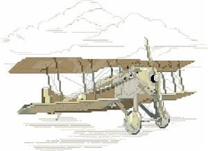 Vintage Airplane Cross Stitch Pattern (1291) Embroidery Patterns by Kooler Design Studio