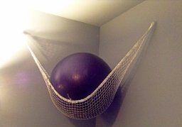 Home Gym - diy exercise ball storage - Google Search - http://amzn.to/2fSI5XT